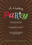Merry Chocolate Party 5x7 Flat Card