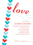 Red Blue Love 5x7 Flat Card