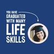 Grad Life Skills 4.75x4.75 Folded Card