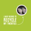 Recycle Twenties 4.75x4.75 Folded Card