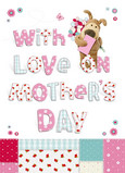 Boofle Patchwork Mothers Day 5x7 Folded Card