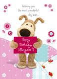 Boofles Birthday Banner 5x7 Folded Card