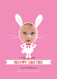 Photo Easter Bunny 5x7 Flat Card