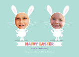 Double Easter Bunny 7x5 Flat Card