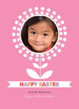 Photo Easter Flower 5x7 Flat Card