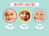 Triple Easter Flowers 7x5 Folded Card