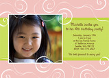 Girl Swirls 7x5 Flat Card