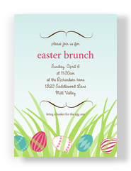 Easter Egg Brunch 5x7 Flat Card