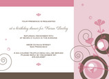 Sweet Swirls Birthday 7x5 Flat Card