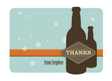Beer Bottle Thanks 5.25x3.75 Folded Card