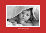 Red Photo Postcard 7x5 Postcard