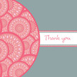 Half Circle Pink Note 4.75x4.75 Folded Card