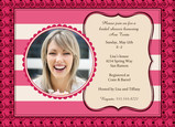 Bright Pink Cheer Shower 7x5 Flat Card