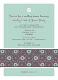 Teal Floral Band Shower 5x7 Flat Card