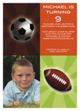 Sport Ball Birthday 5x7 Flat Card