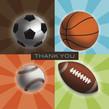 Sport Ball Thanks 4.75x4.75 Folded Card