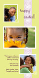 Three Photo Lime Easter 4x8 Flat Card