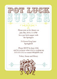 Pot Luck Party 5x7 Flat Card
