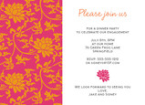 Orange Tapestry Party 7x5 Flat Card