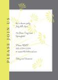 Lime Daisy Party 5x7 Flat Card