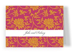 Orange Tapestry Note 5.25x3.75 Folded Card