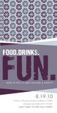 Food Drinks Fun 4x8 Flat Card