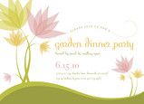 Pastel Green Party 7x5 Flat Card