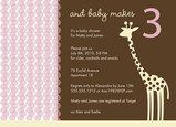 Giraffe Dot Pink 7x5 Flat Card