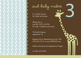 Giraffe Dot Blue 7x5 Flat Card