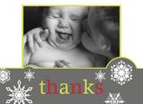 Joy Snowflakes Thanks 5.25x3.75 Folded Card