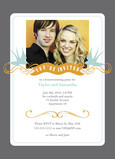 Golden Banner Party 5x7 Flat Card