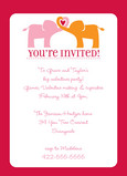 Elephant Hug Party 5x7 Flat Card