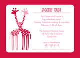 Giraffe Hug Party 7x5 Flat Card