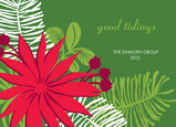 Poinsettia Greetings 7x5 Folded Card