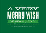 Very Merry Wish 7x5 Folded Card