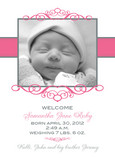 Pink Frame Baby 5x7 Flat Card