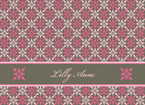Gray Hot Pink 5.25x3.75 Folded Card