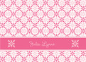 Hot Pink and Light Pink 5.25x3.75 Folded Card