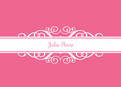 Hot Pink Note 5.25x3.75 Folded Card
