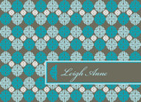 Sea Green and Gray 5.25x3.75 Folded Card