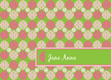 Hot Pink Apple Green 5.25x3.75 Folded Card