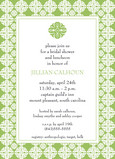 Apple Green Shower 5x7 Flat Card