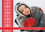 Blue Red Bar Postcard 7x5 Postcard