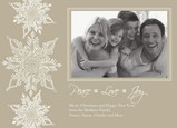 White Snowflake Peace 7x5 Flat Card