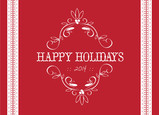 Red Holiday Scroll Postcard 7x5 Postcard