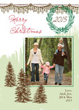 Natural Forest Christmas 5x7 Flat Card