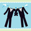 Wedding Suits 4.75x4.75 Folded Card