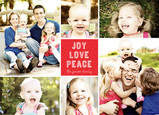 Joy Love Peace Holiday Collage 7x5 Flat Card