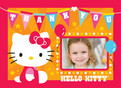 Birthday Flags Hello Kitty 5.25x3.75 Folded Card