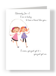 Double Jump Rope 5x7 Folded Card